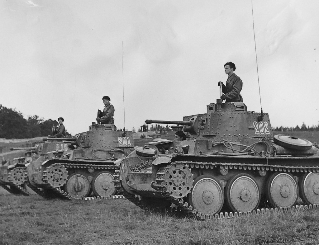 Strv m/41 SI, parad på Gärdet, september 1943