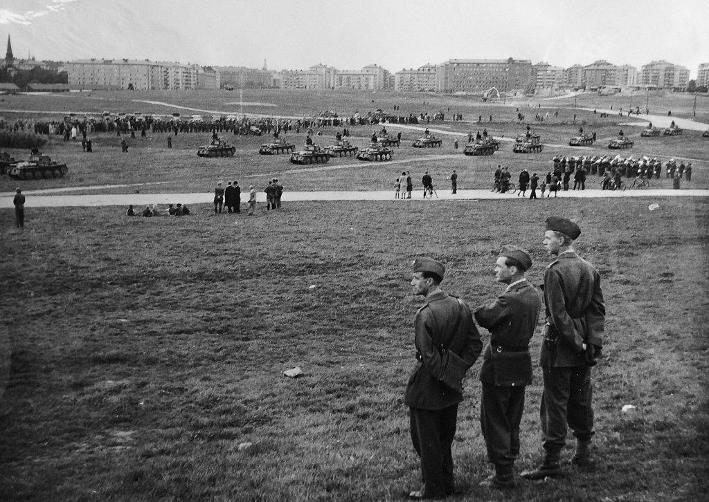 P3 uppvisning på Gärdet, september 1943