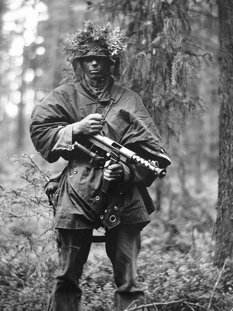 Soldat ur I19, Kalix fo, juli 1952